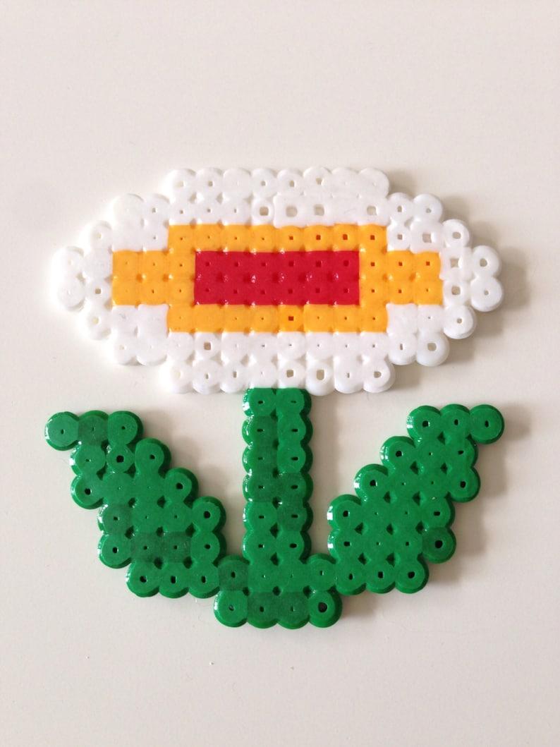 Fleur De Feu De Super Mario Bros Fusible Perle Pixel Art Etsy