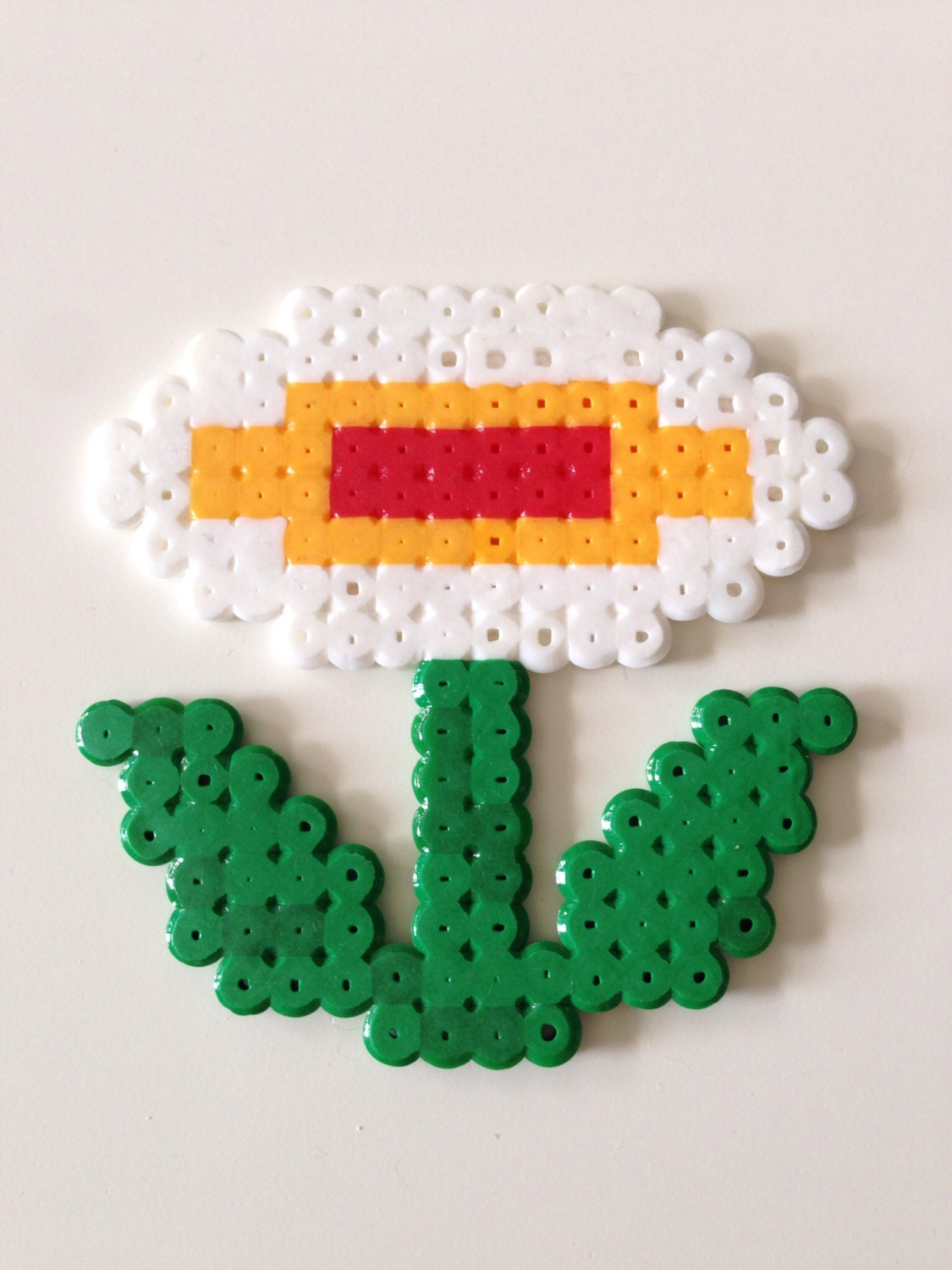 Fire Flower From Super Mario Bros Fuse Bead Pixel Art Etsy
