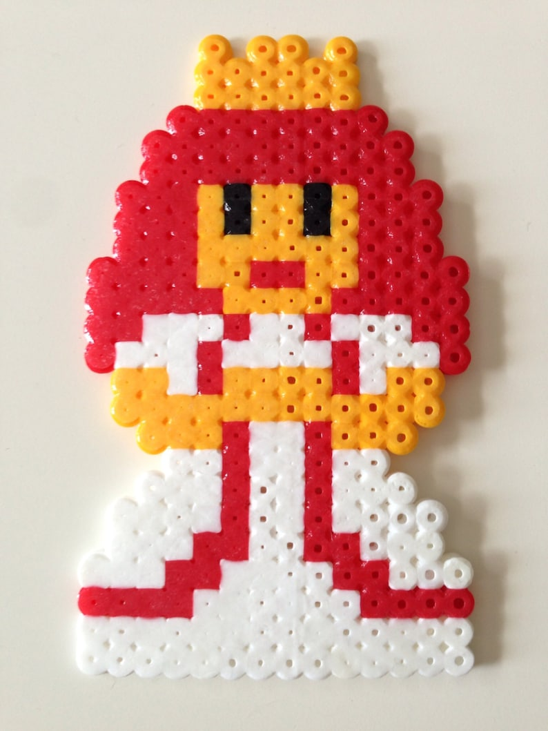 Princess Toadstool From Super Mario Bros Fuse Bead Pixel Art Etsy