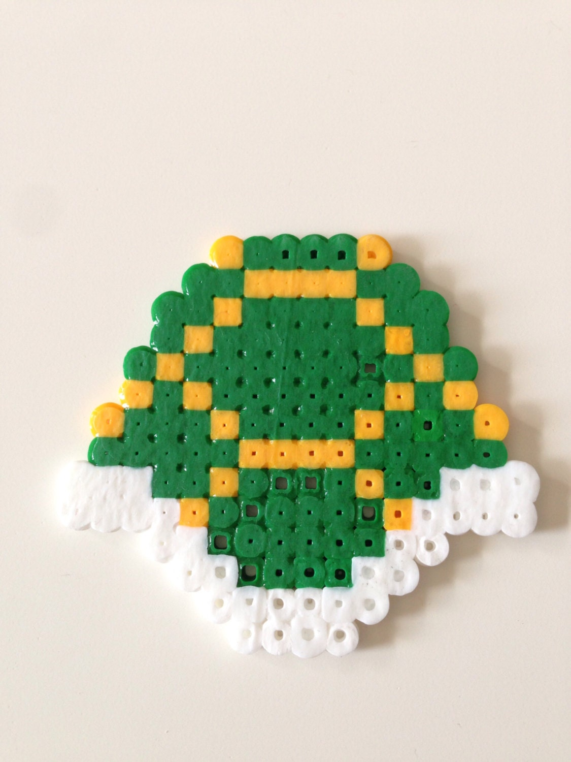 Green Koopa Shell From Super Mario Bros Fuse Beads Pixel Art Etsy