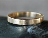 Gold Wedding Band Men, Classic Gold Wedding Ring, Solid 14k Gold, 3mm Flat Gold Band, Men's Wedding Band