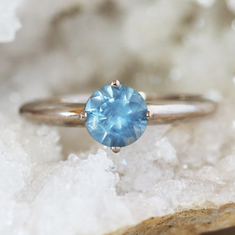 Montana Sapphire Engagement Ring Light Blue Sapphire image 0