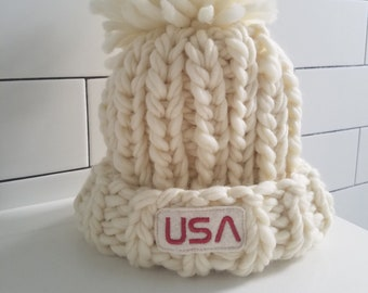 Merino Wool Winter Hat Inspired by Olympic Snowboarder Chloe Kim 5a8ead6bcc7