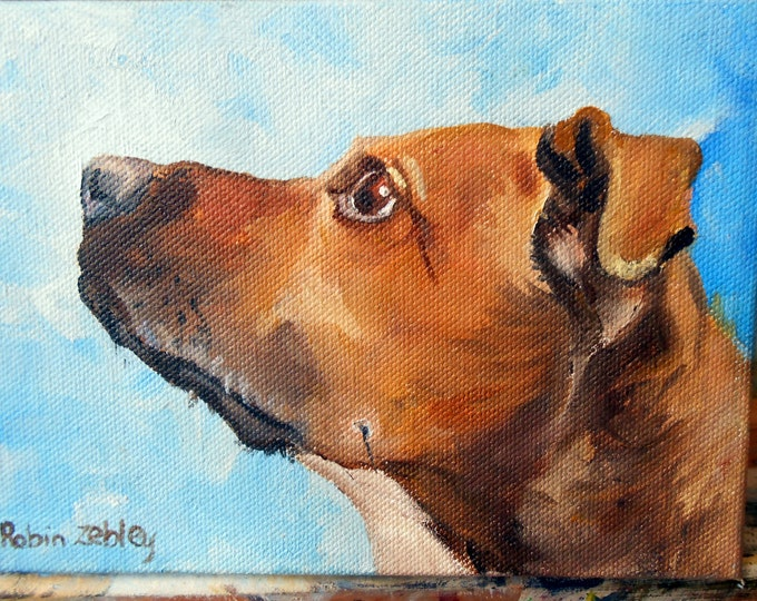 Oil Painting Dog Portrait, Custom Rhodesian Ridgeback mix or any breed Painting Gift Certificate Home fall