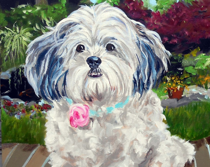 "Large Custom Pet Portraits, Oil Painting by me, artist Robin Zebley, Custom Portrait Art, Personalized 18"" x 24"" Home fall"