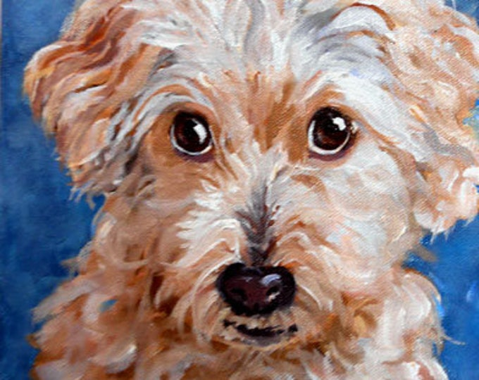 Pet Portrait Painting, Custom Fine Art Oils on Canvas Dog Portrait Animal Art Home fall