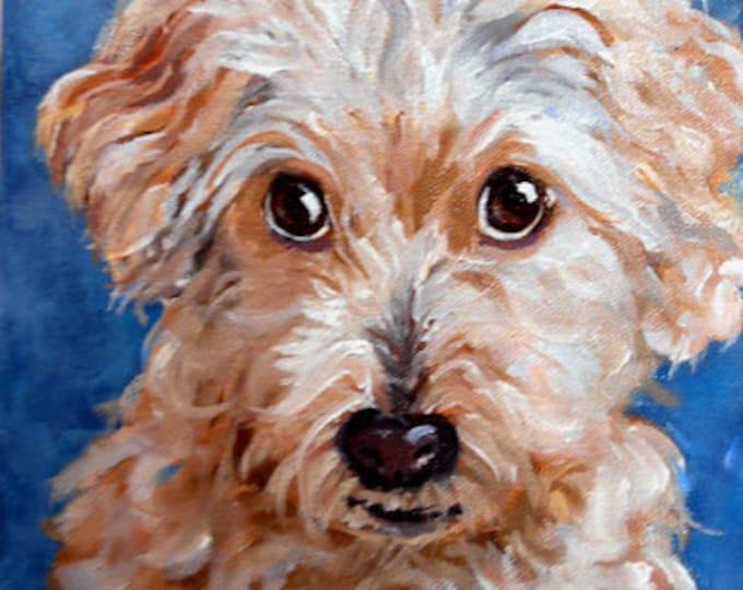 Pet Portrait Painting, Custom Fine Art Oils on Canvas Dog Portrait Animal Art Home fall