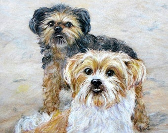 Custom Pet Portrait Original Drawing, by artist Robin Zebley, Christmas Gift for Dog Lover, Cat Art, Dog Art, Gifts for Him Gift Certificate