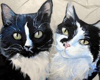Custom Cat Portrait Oil Painting Art Gift Certificate