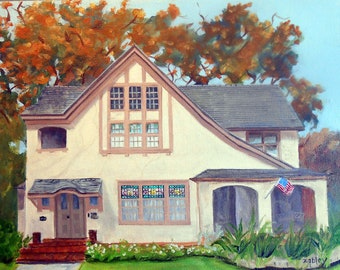 House Portrait Oil Paintings