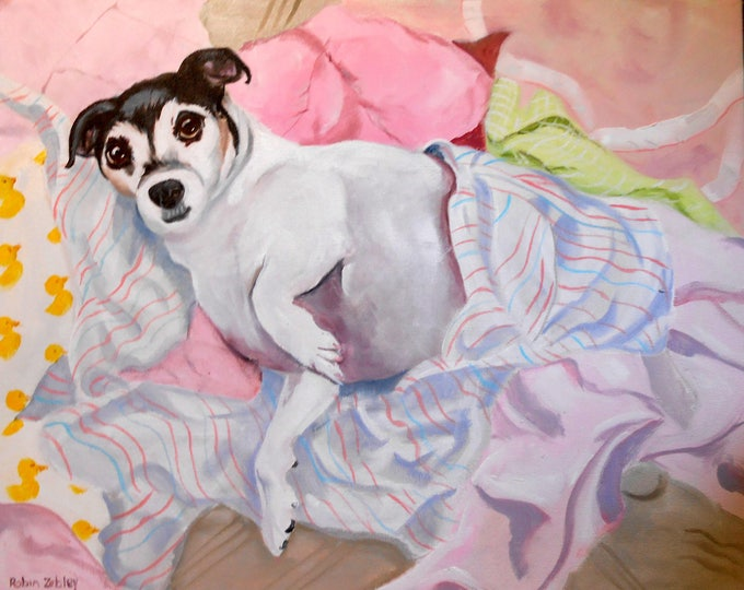 Jack Russell Terrier Portrait Artist Home fall