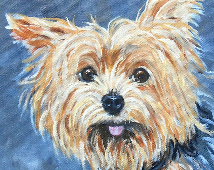 Portraits of Yorkshire Terriers Home fall