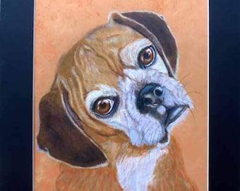 Custom Pet Portrait, Custom Dog and Cat Portrait Artist, Custom Portrait Art Home fall