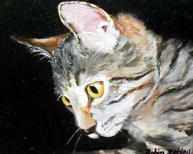 Cat Portrait Painting from Photos, Oil Painting on Canvas Home fall
