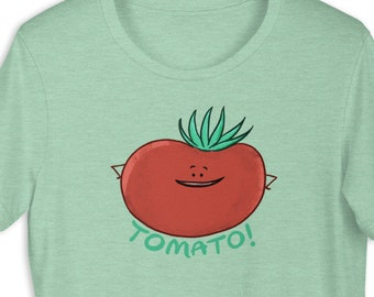 Unisex Tomato Tee - gardening gardner farmer tomatoes funny tomato cute tomato vegetables vegetarian