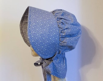 Blue Calico Pioneer Bonnet