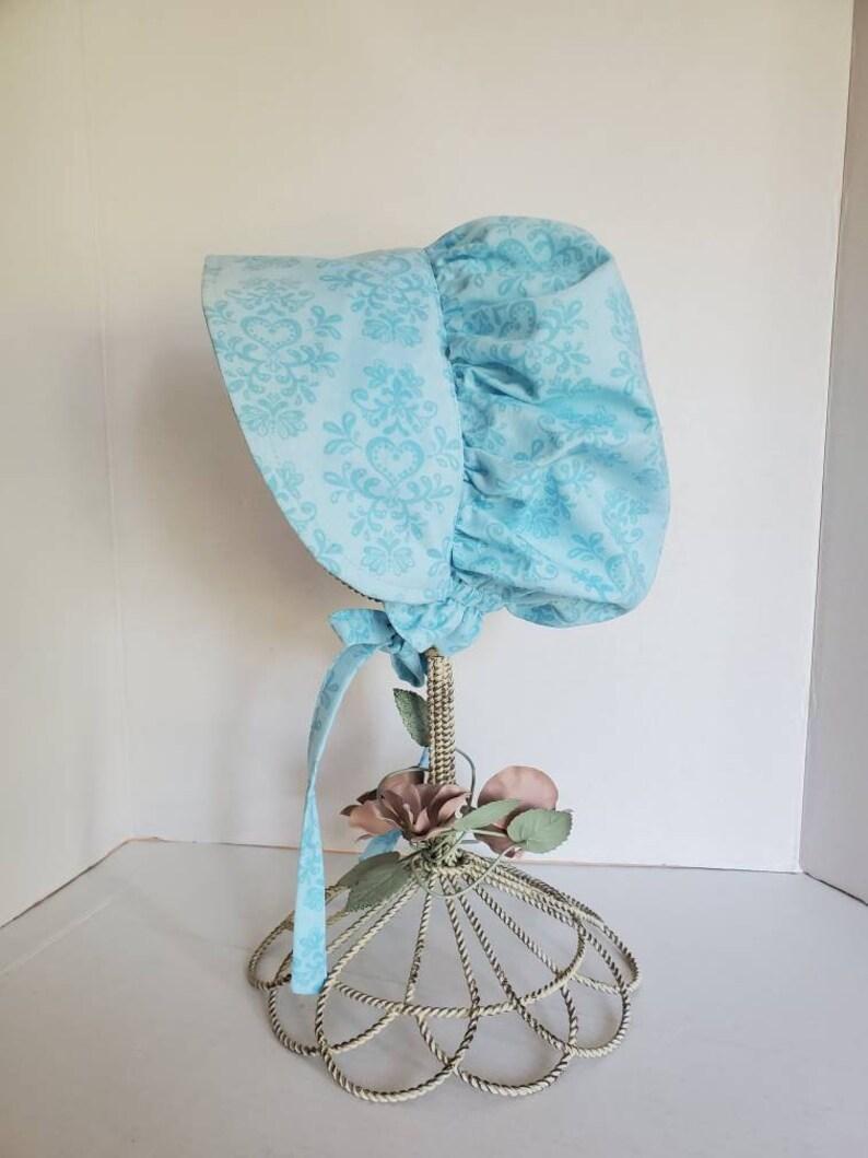 Light Blue Pioneer Bonnet for Girls