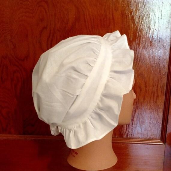 Colonial Round Eared Cap 18th Century Regency Reenactor Women/'s Girls Hat