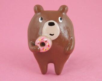 Donut Bear Brooch (008)