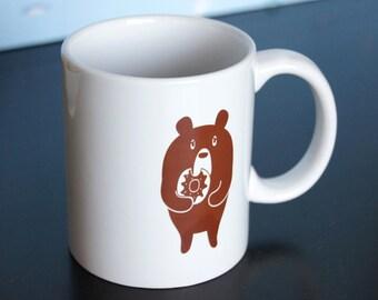 Donut Bear Ceramic mug
