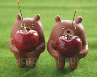 Bear Republic Cherry Bears Print 8x10