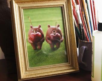 Bear Republic Cherry Bears Print 5x7