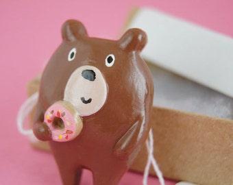 Donut Bear Brooch (005)