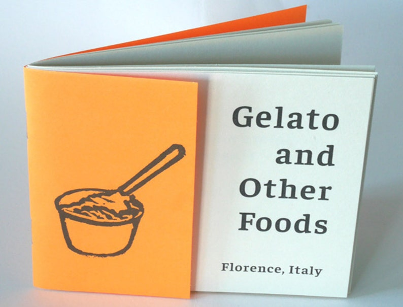 Gelato and Other Foods  Italy Zine with illustrations image 0