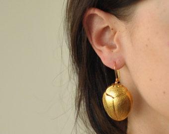Scarab Earrings - Final Sale
