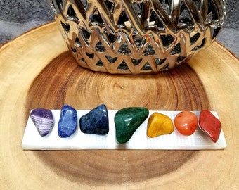 """SELENITE CHARGING BAR --- 8"""" Long --- Polished smooth --- Cleanse and charge your crystals, tumbled stones, and more !!"""