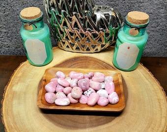 RHODONITE  (peru) --- 1 Tumbled Gemstone --- Medium Size --- Grade A