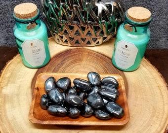Large HEMATITE --- 1 Tumbled Gemstone --- LARGE Size --- Grade A