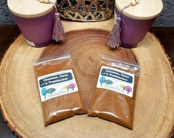 CINNAMON, CLOVES, and FRANKINCENSE Powder --- All Natural --- 1 oz --- Incense / Offerings --- Purification / Power / Blessings / Protection
