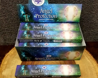 ANGEL PROTECTION Incense Sticks --- Premium Masala Incense Sticks from Green Tree --- 15 gram package --- greentree