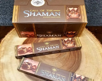 CALL of THE SHAMAN Incense Sticks --- Premium Masala Incense Sticks from Green Tree --- 15 gram package --- greentree