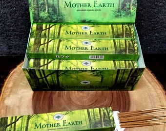 MOTHER EARTH Incense Sticks --- Premium Masala Incense Sticks from Green Tree --- 15 gram package --- greentree