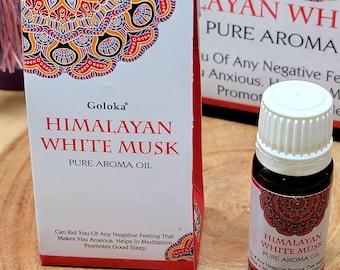 Goloka HIMALAYAN WHITE MUSK Fragrance Oil --- 10 ml --- by Goloka