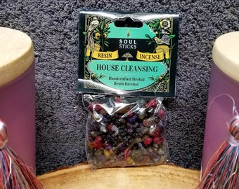 HOUSE CLEANSING Resin Incense --- Herb --- 1 Ounce --- By SoulSticks