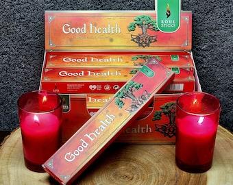 GOOD HEALTH Incense Sticks --- Hand Rolled Masala ---  15 gram package --- by SoulSticks