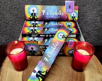 Soul Sticks 7 CHAKRAS Incense Sticks --- Hand Rolled Masala ---  15 gram package --- by SoulSticks