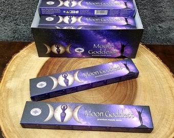 Green Tree MOON GODDESS Incense Sticks --- Premium Masala Incense Sticks from Green Tree --- 15 gram package --- greentree