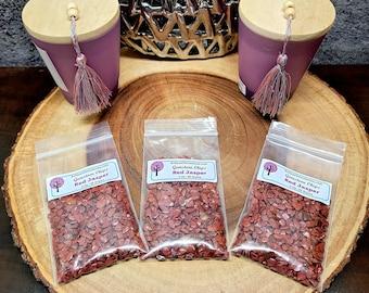 RED JASPER Gemstone Chips --- 2 oz. Bag  (60+ Grams) --- Polished / Tumbled--- Grade A --- (gemstone chips)