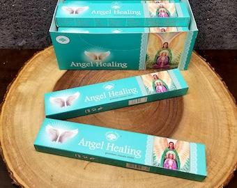 ANGEL HEALING Incense Sticks --- Premium Masala Incense Sticks from Green Tree --- 15 gram package --- greentree