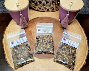 TIGER EYE Gemstone Chips --- 2 oz. Bag  (60+ Grams) --- Polished / Tumbled--- Grade A --- (gemstone chips)