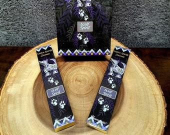 WOLF SPIRIT Incense Sticks --- FRANKINCENSE Blend ---  15 gram package --- Harmonia Brand by Goloka