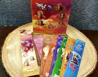 7 ARCHANGELS Incense Sticks --- Box of 35 incense sticks --- 5 incense sticks for each of the 7 archangels --- By HEM --- ( hem7pack )