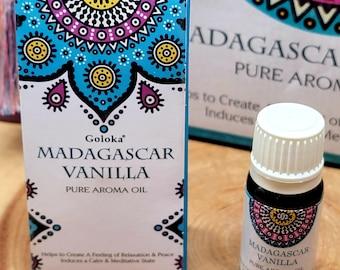 Goloka MADAGASCAR VANILLA Fragrance Oil --- 10 ml --- by Goloka