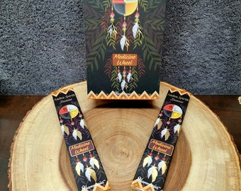 MEDICINE WHEEL Incense Sticks --- MUSK Blend ---  15 gram package --- Harmonia Brand by Goloka