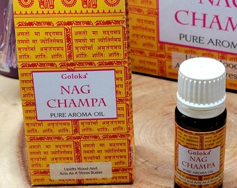 Goloka NAG CHAMPA Fragrance Oil --- 10 ml --- by Goloka