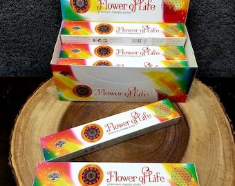 Green Tree FLOWER OF LIFE Incense Sticks --- Premium Masala Incense Sticks from Green Tree --- 15 gram package --- greentree